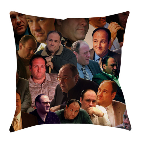 Tony Soprano Photo Collage Pillowcase