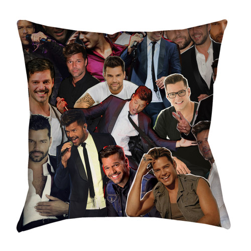 Ricky Martin Photo Collage Pillowcase