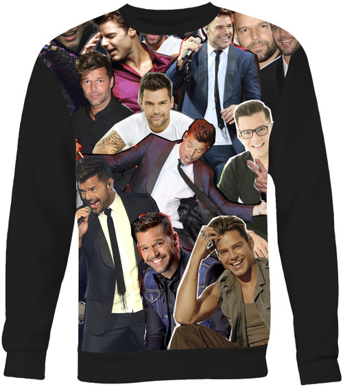Ricky Martin Collage Sweater Sweatshirt