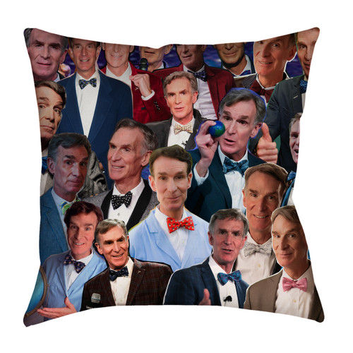 Bill Nye The Science Guy Photo Collage Pillowcase