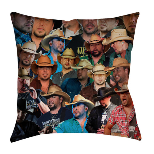 Jason Aldean Photo Collage Pillowcase