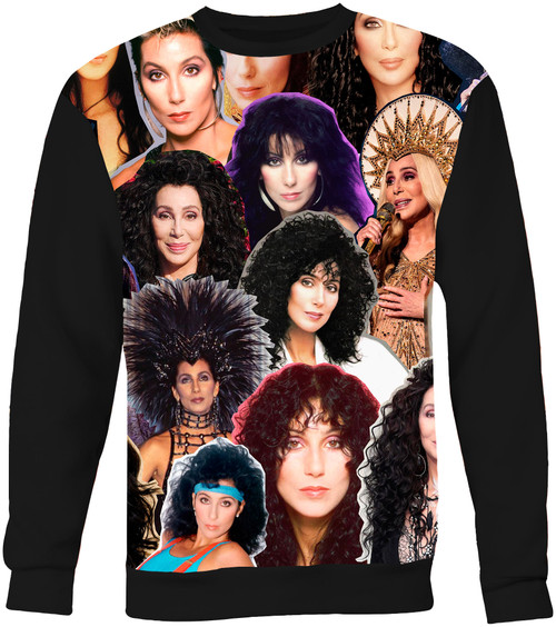 Cher Collage Sweater Sweatshirt