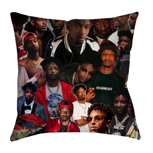 21 Savage Photo Collage Pillowcase