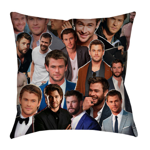 Chris Hemsworth Photo Collage Pillowcase