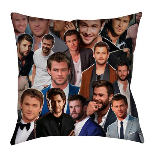 Chris Hemsworth Photo Collage Pillowcase