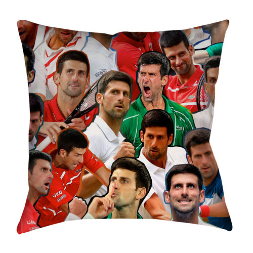 Novak Djokovic Photo Collage Pillowcase