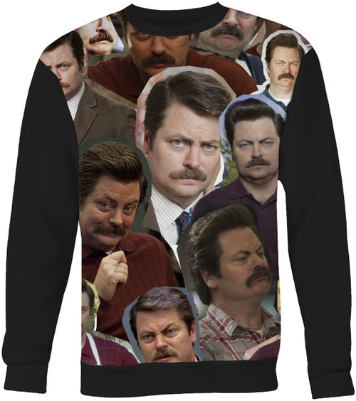 Ron Swanson Collage Sweater Sweatshirt