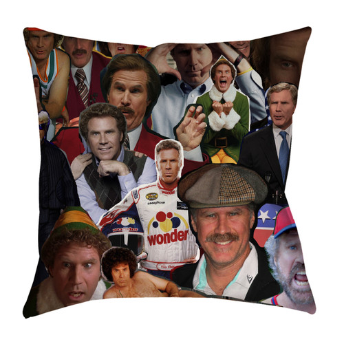 Will Ferrell Photo Collage Pillowcase