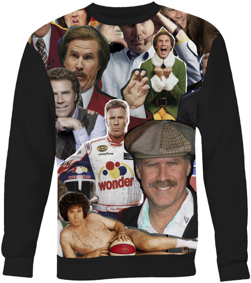 Will Ferrell Collage Sweater Sweatshirt