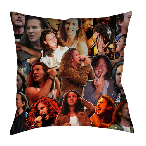Eddie Vedder Photo Collage Pillowcase