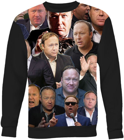 Alex Jones Collage Sweater Sweatshirt