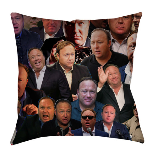 Alex Jones Photo Collage Pillowcase
