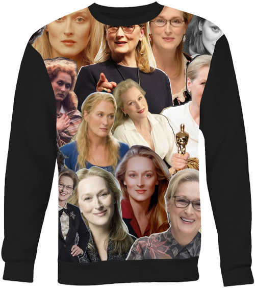 Meryl Streep Collage Sweater Sweatshirt