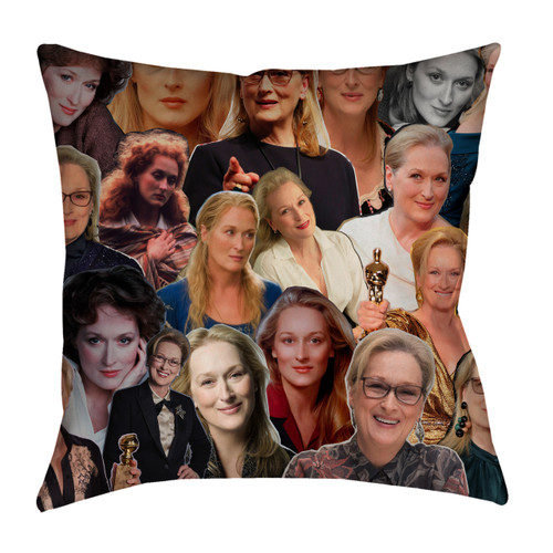 Meryl Streep Photo Collage Pillowcase