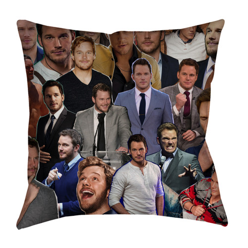 Chris Pratt Photo Collage Pillowcase
