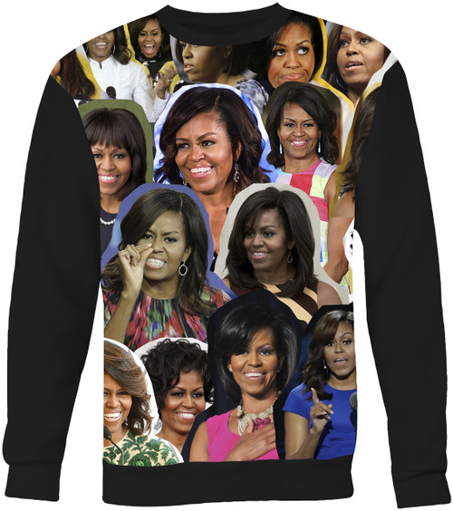 Michelle Obama Collage Sweater Sweatshirt
