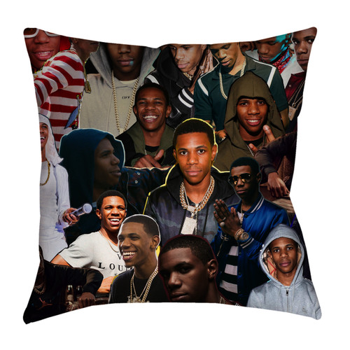 A Boogie wit da Hoodie Photo Collage Pillowcase