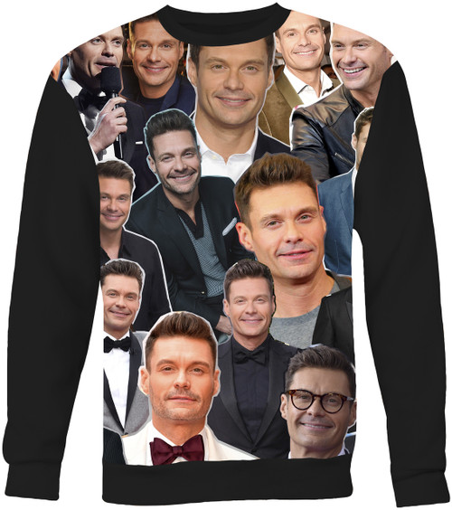 Ryan Seacrest Collage Sweater Sweatshirt