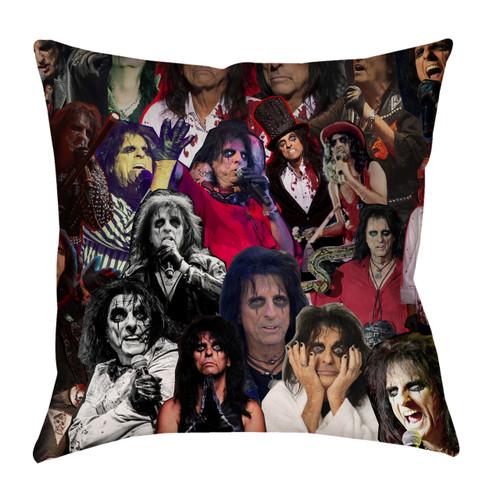 Alice Cooper Photo Collage Pillowcase
