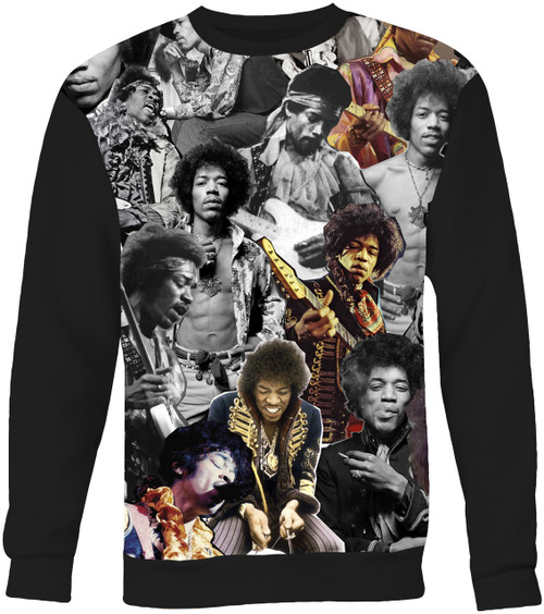 Jimi Hendrix Collage Sweater Sweatshirt