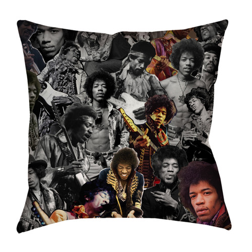 Jimi Hendrix Photo Collage Pillowcase