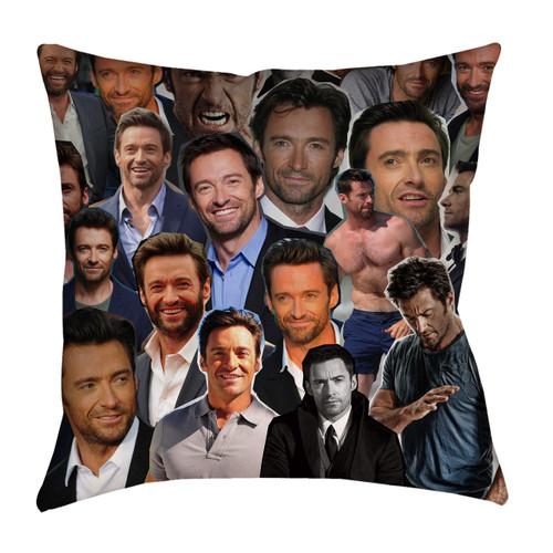 Hugh Jackman Photo Collage Pillowcase