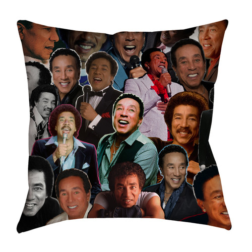 Smokey Robinson Photo Collage Pillowcase