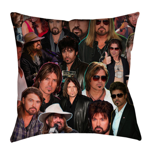 Billy Ray Cyrus Photo Collage Pillowcase