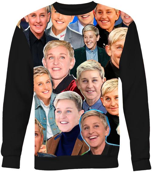 Ellen Degeneres Collage Sweater Sweatshirt
