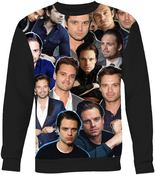 Sebastian Stan Collage Sweater Sweatshirt