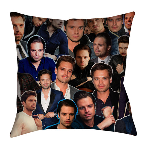 Sebastian Stan Photo Collage Pillowcase