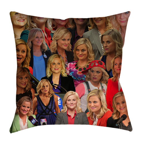 Leslie Knope Photo Collage Pillowcase