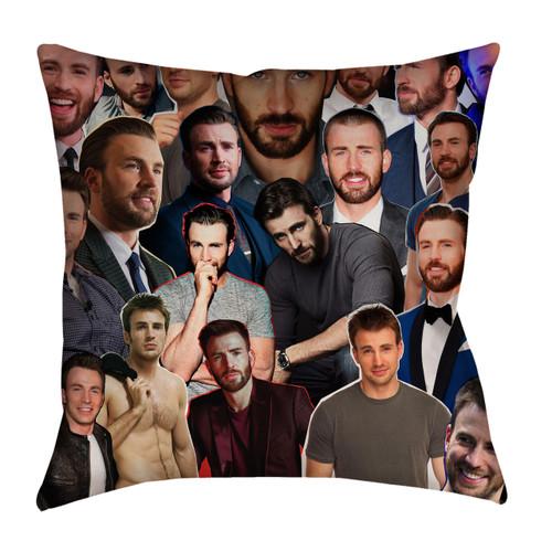 Chris Evans Photo Collage Pillowcase
