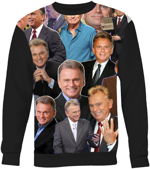 Pat Sajak Wheel of Fortune Collage Sweater Sweatshirt