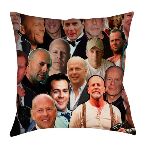 Bruce Willis Photo Collage Pillowcase