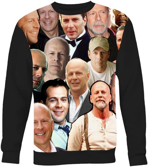 Bruce Willis Collage Sweater Sweatshirt