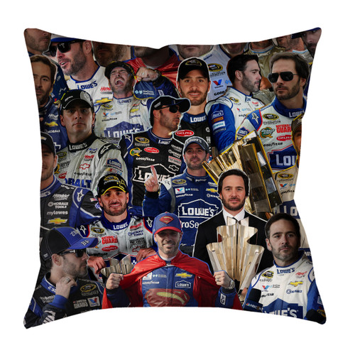 Jimmie Johnson Photo Collage Pillowcase