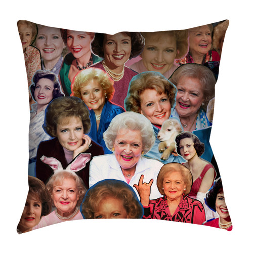 Betty White Collage Pillowcase