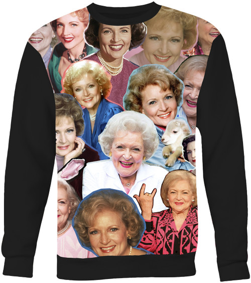 Betty White Collage Sweater Sweatshirt
