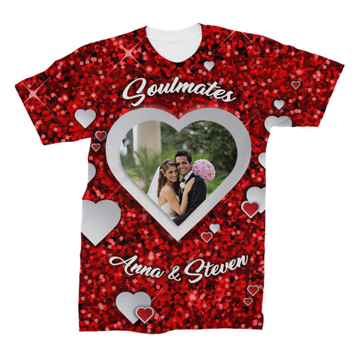 Custom Valentine's Day All Over Print Photo T-Shirt