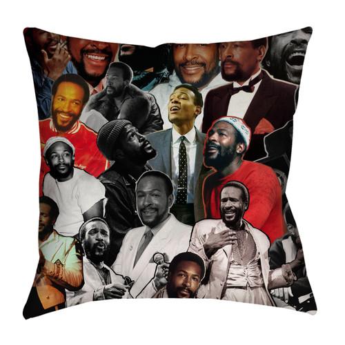 Marvin Gaye Photo Collage Pillowcase