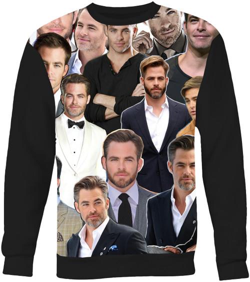 Chris Pine Collage Sweater Sweatshirt