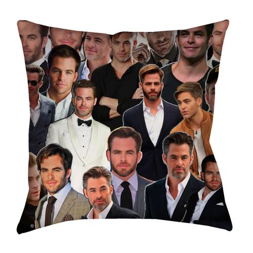 Chris Pine Photo Collage Pillowcase