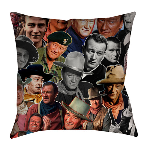 John Wayne Photo Collage Pillowcase