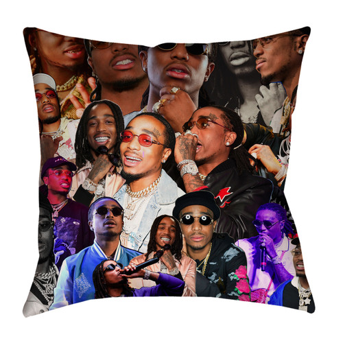 Quavo Photo Collage Pillowcase