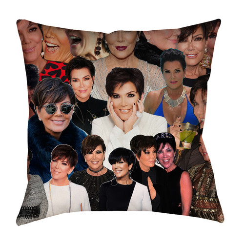 Kris Jenner Photo Collage Pillowcase