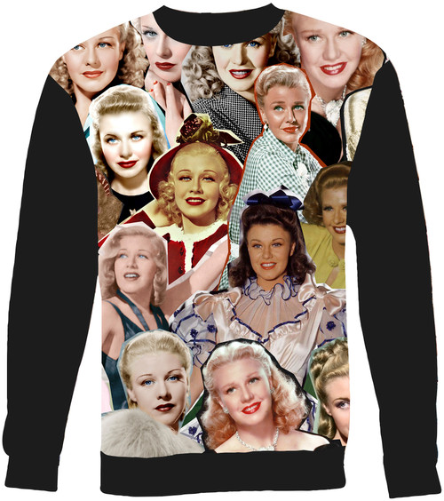 Ginger Rogers Collage Sweater Sweatshirt