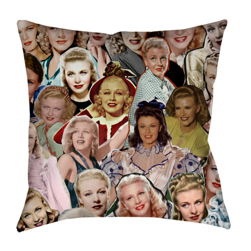 Ginger Rogers Photo Collage Pillowcase