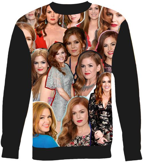 Isla Fisher Collage Sweater Sweatshirt