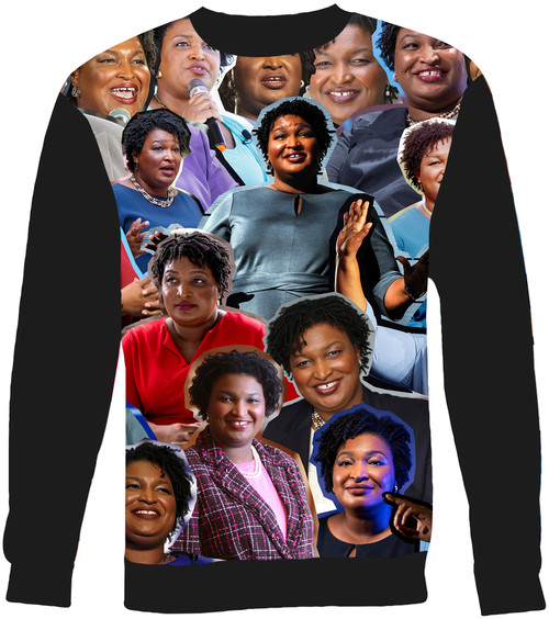 Stacey Abrams Collage Sweater Sweatshirt